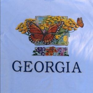 Vintage Georgia butterfly T-shirt